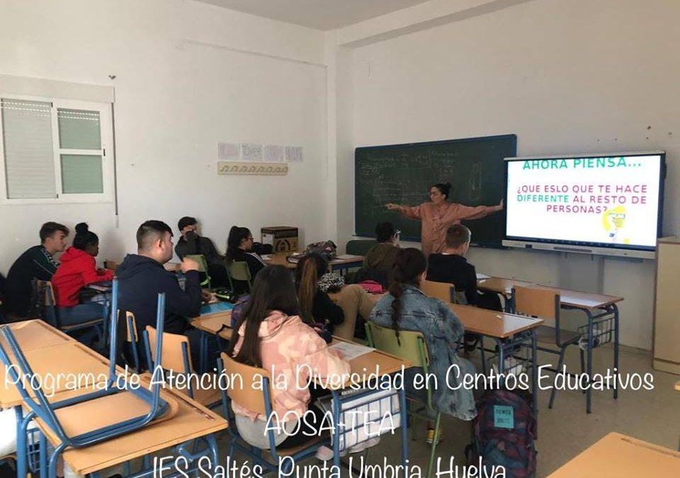 Intervención con los compañeros de 4º de ESO del IES Saltés, Punta Umbría