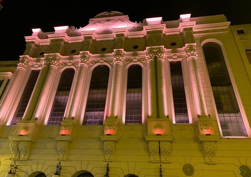 Huelva iluminada por el Asperger